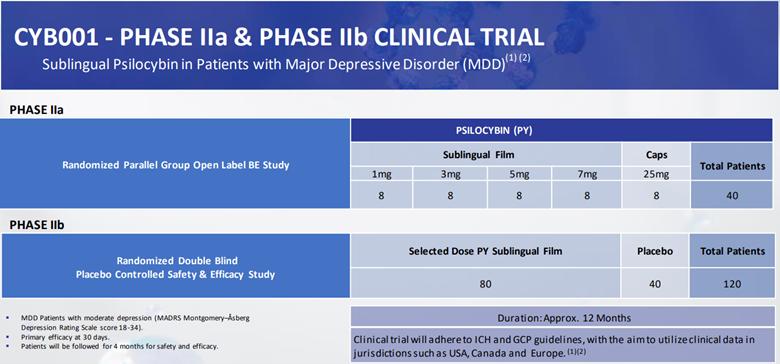 Cybin's Phase II clinical study is underway